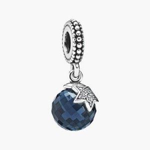 Genuine Pandora Blue Moon and Star Pendant/Charm